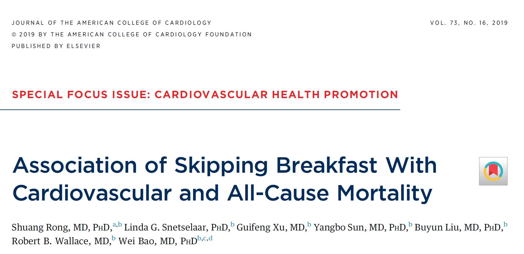 Association of Skipping Breakfast With Cardiovascular and All-Cause Mortality