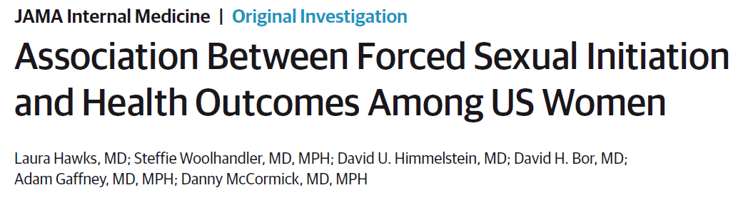 Association Between Forced Sexual Initiation and Health Outcomes Among US Women