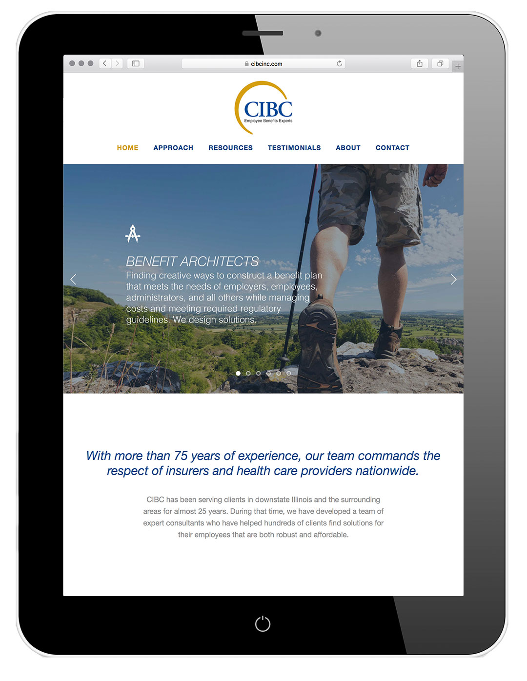 CIBC's newly designed website, designed and implemented by Cfx