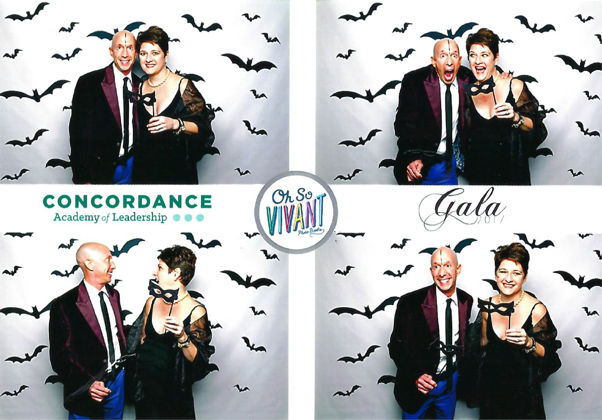 Chris Frank and Megan Frank, pictured at Concordance Academy 2017 Gala: A Halloween Soiree