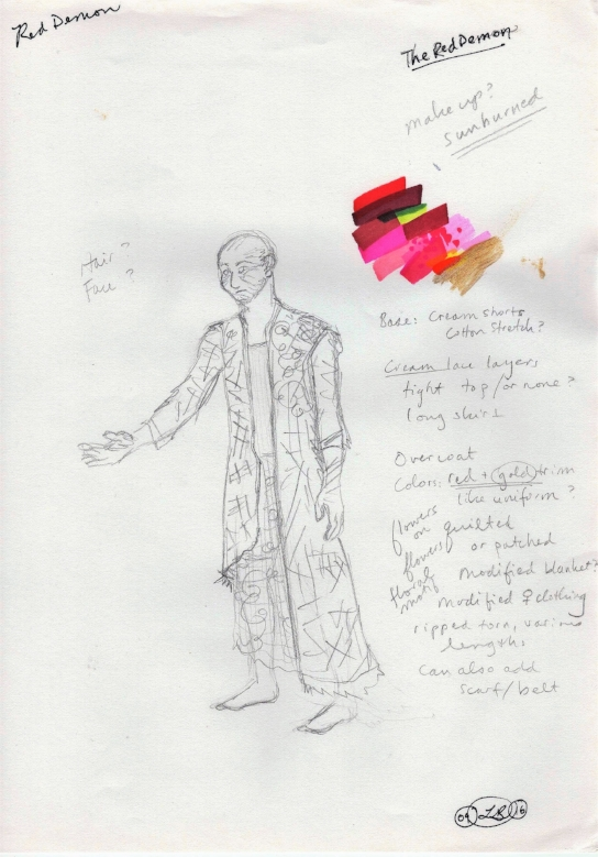 Original design for the Red Demon, by Liz Brent