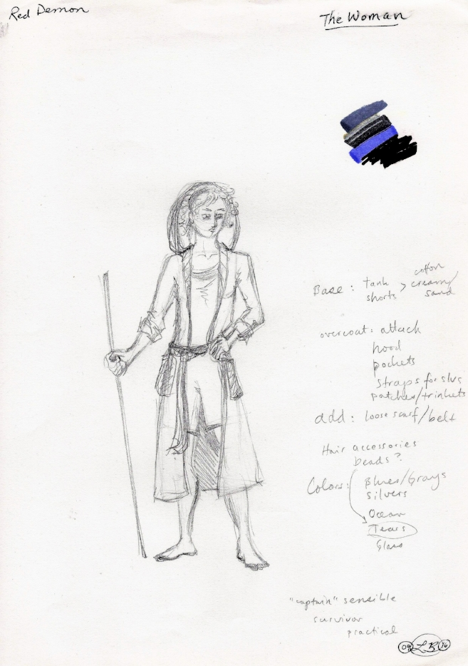 Original design for The Woman, by Liz Brent