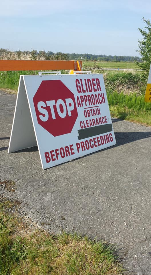 When you see this sign…STOP!!!! Until a Gliding Operations Officer escorts you onto the airfield. Parents must wait here during the gliding session if they stay.