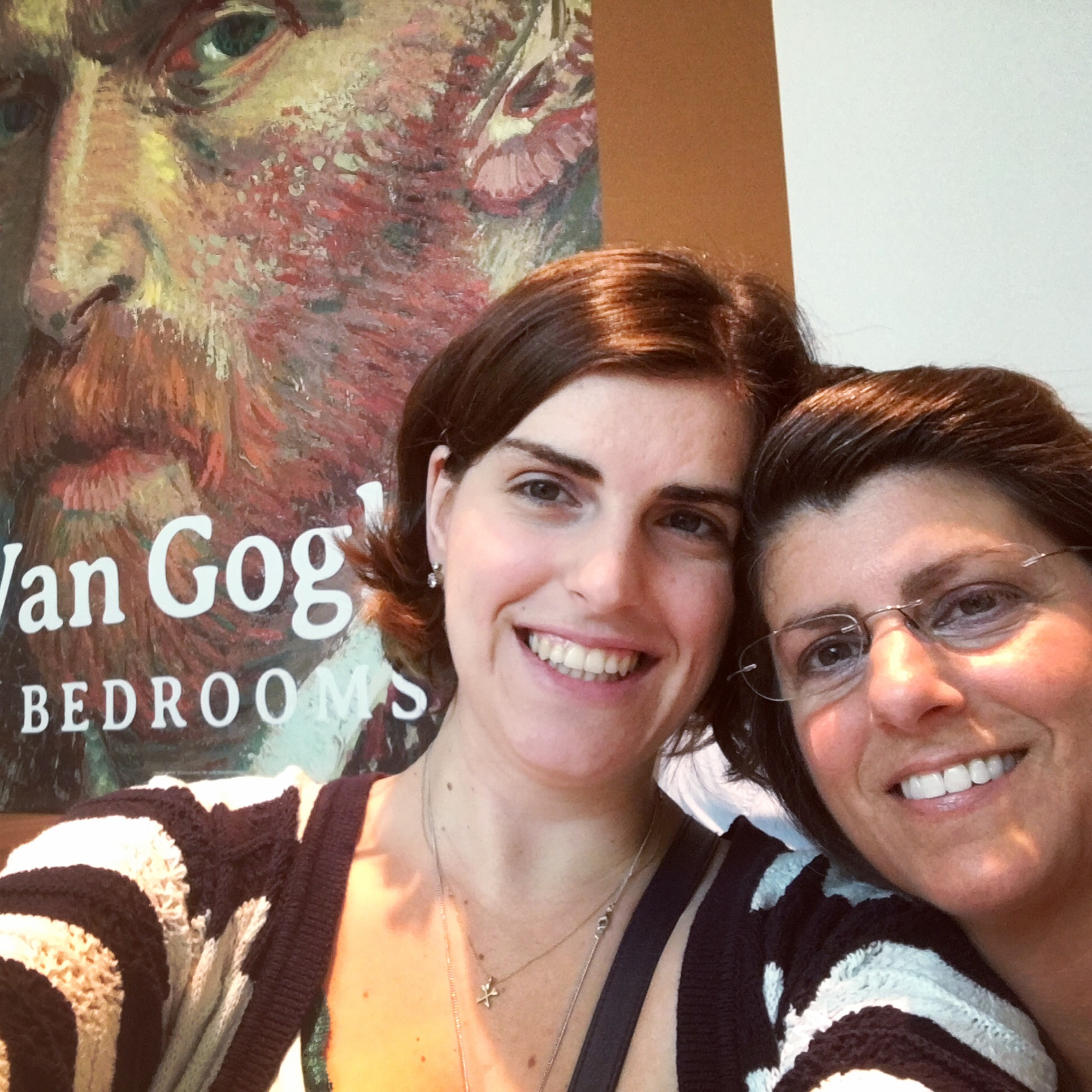 My mom and I visiting the Van Gogh exhibit in Chicago, April of 2016. <3