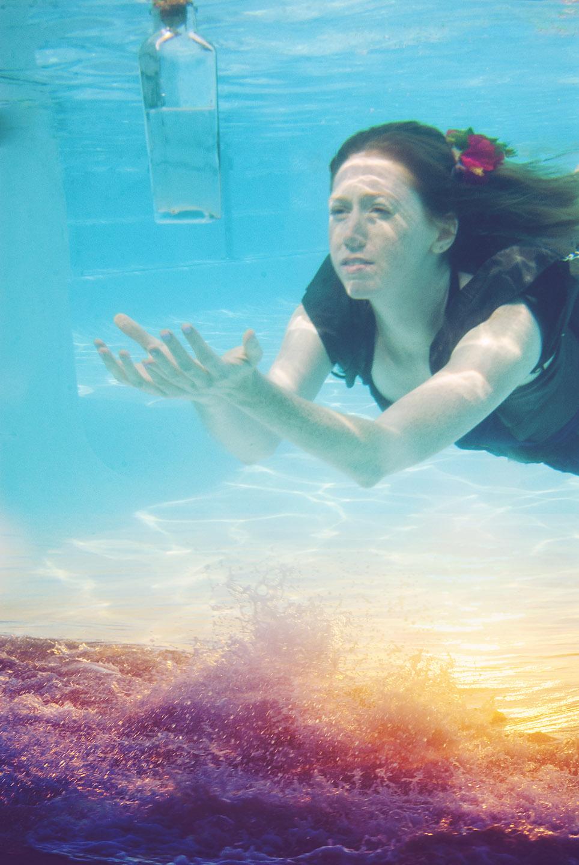 underwater photography art composite