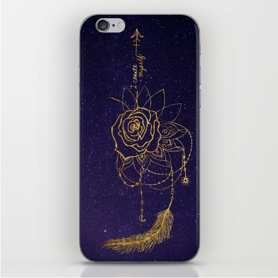 galaxy art gold foil bad wolf phone case