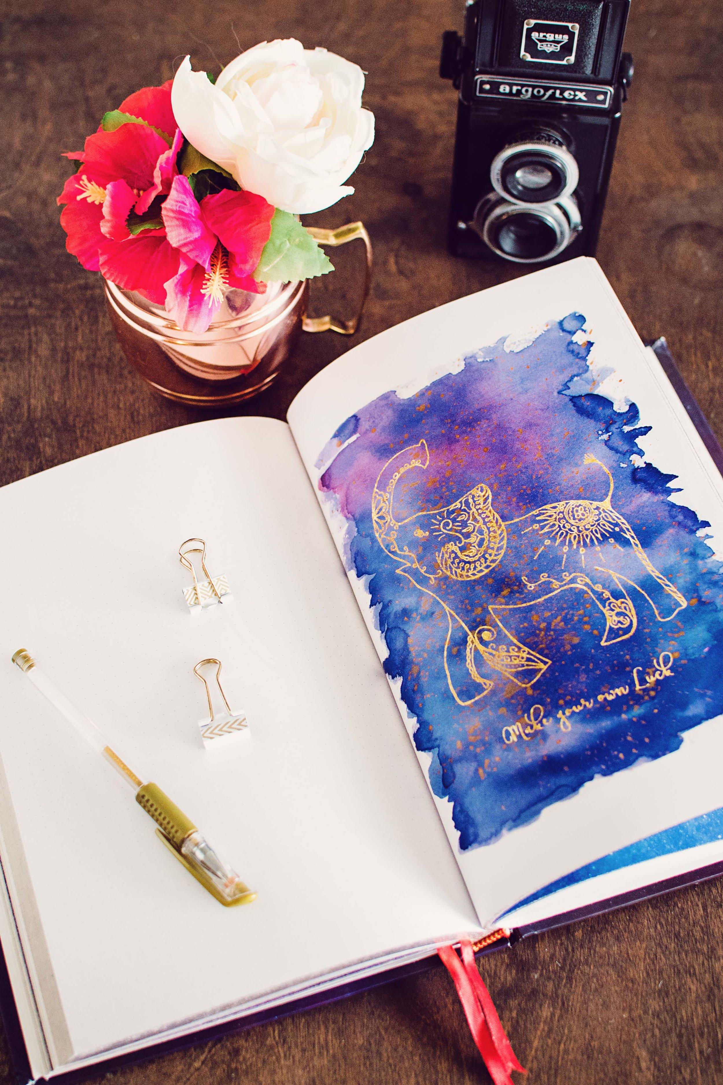 starlight illustrated bullet journal sketchbook 3