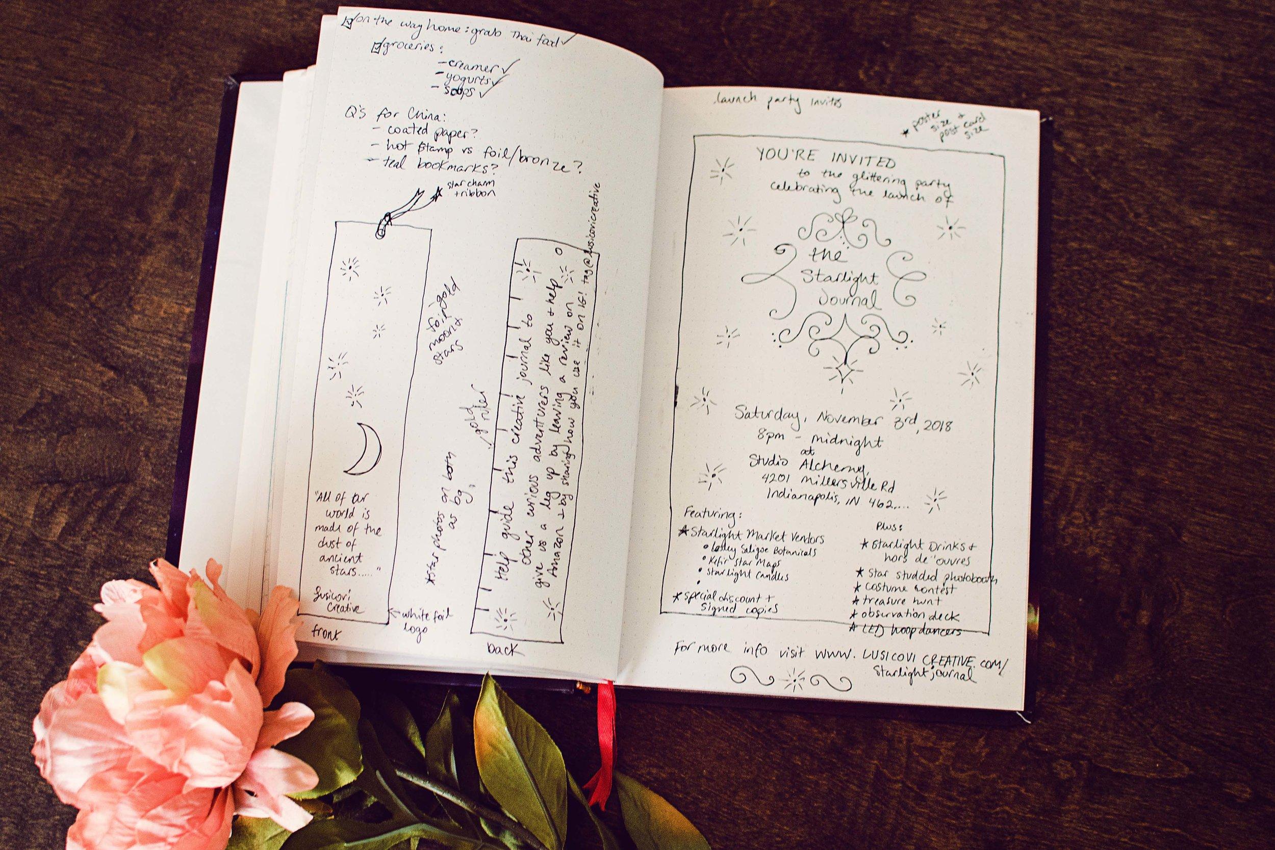 starlight illustrated bullet journal sketchbook 4