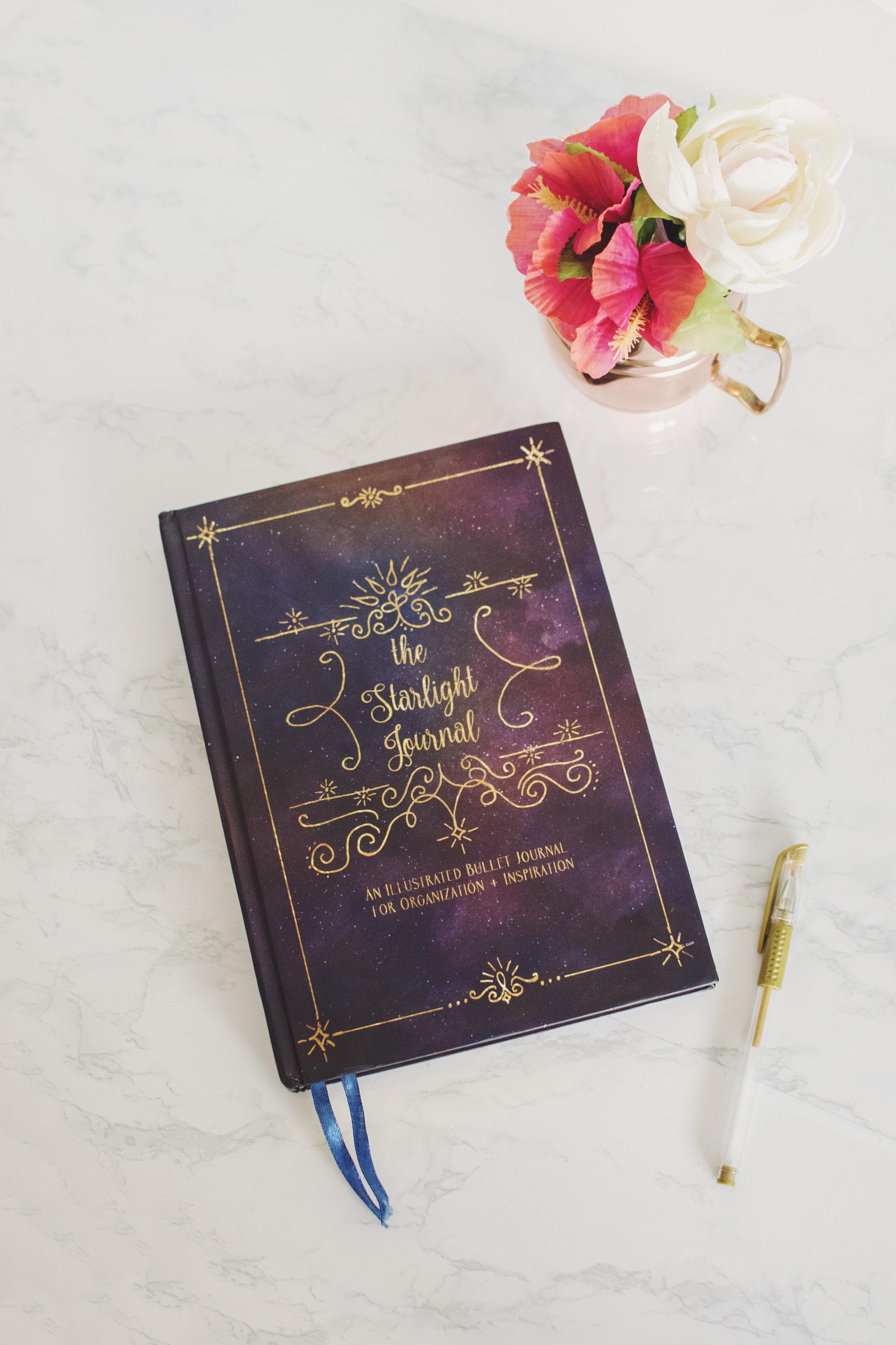 starlight illustrated bullet journal sketchbook boho 6
