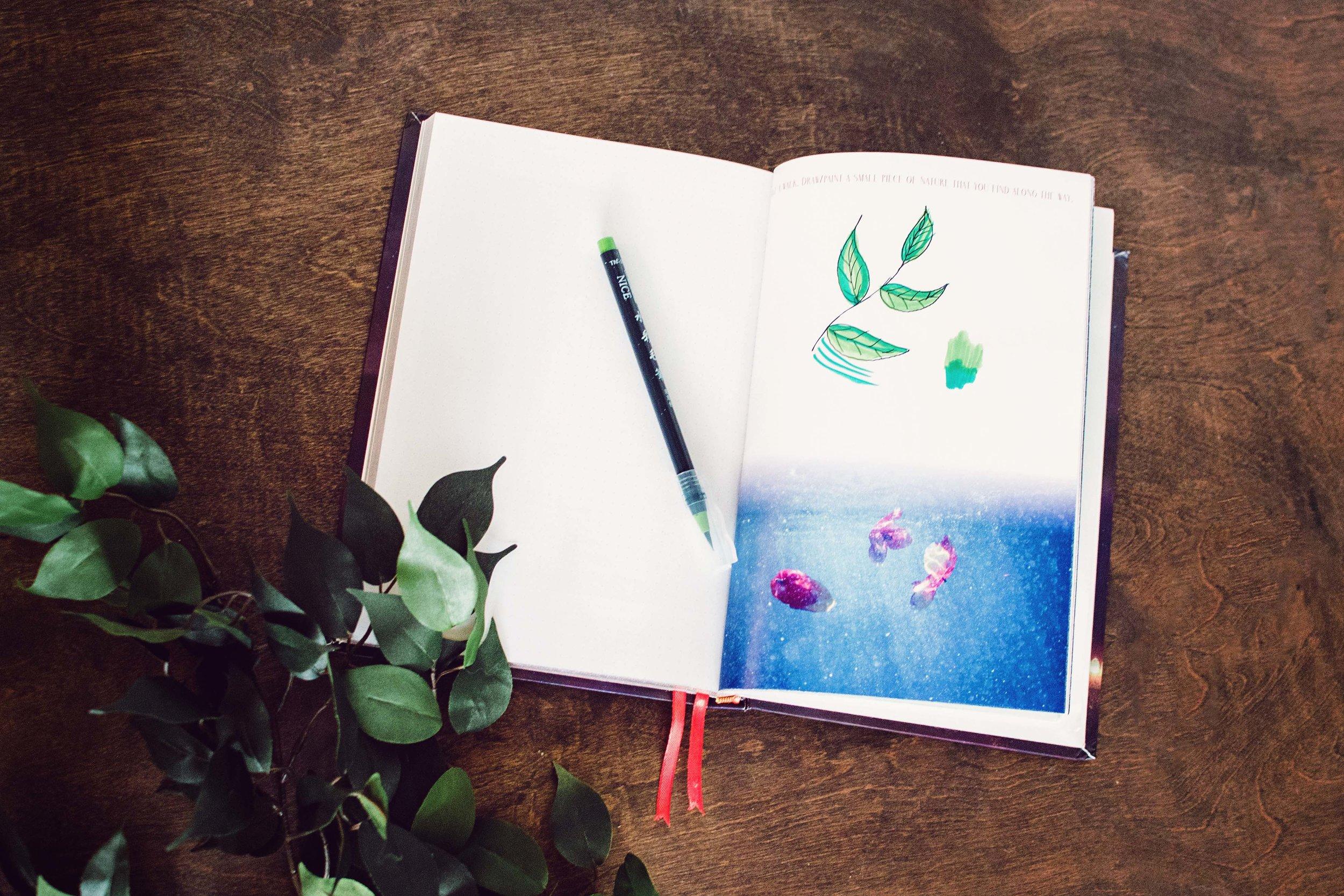 starlight illustrated bullet journal sketchbook 9