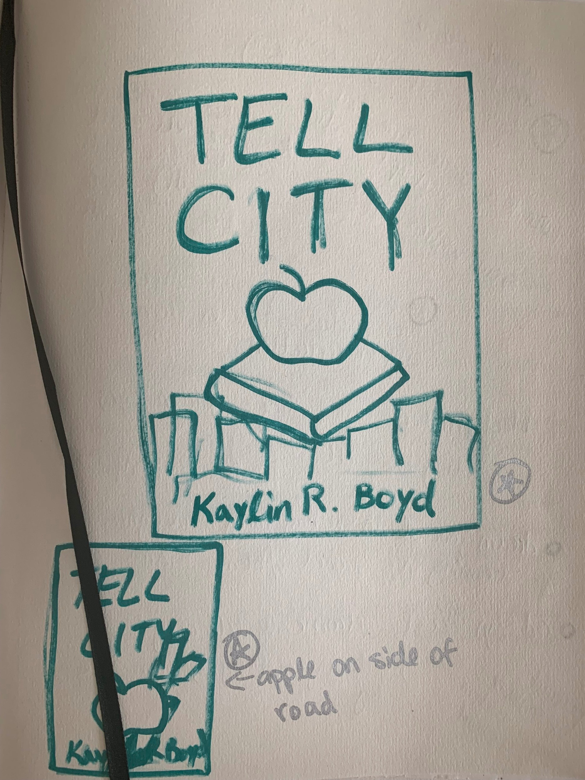 The first ever sketch from 2013 of a  Tell City  cover.
