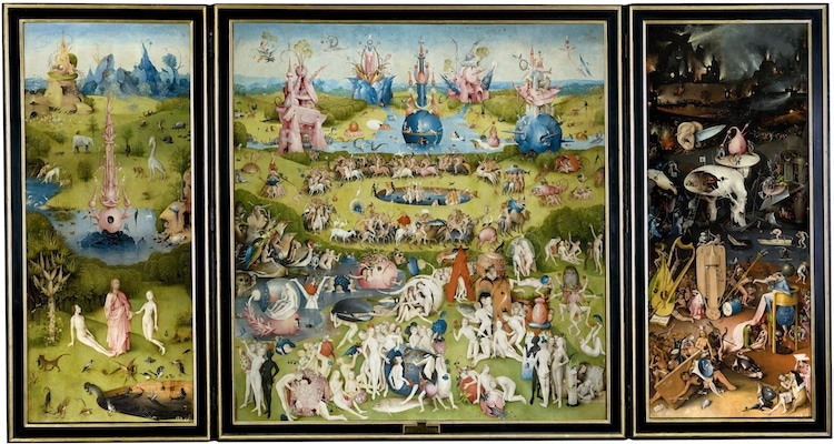 """The Garden of Earthly Delights"" by Hieronymus Bosch (c. 1490 – 1510). Prado Museum."