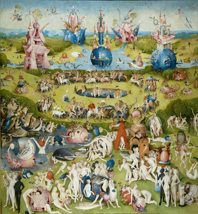 "Central panel of ""The Garden of Earthly Delights"""