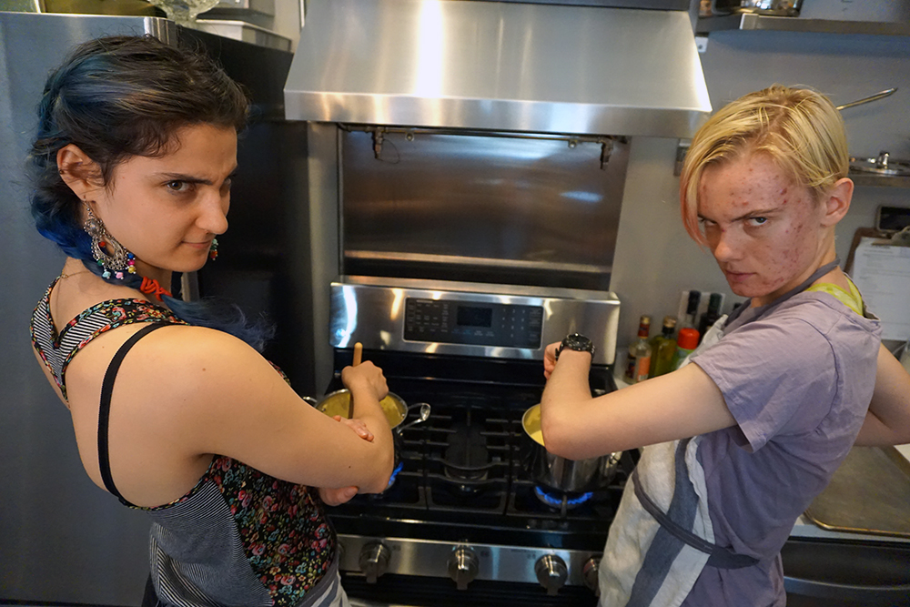 Rin and Sara in the Risotto-Stir Intern Face-Off