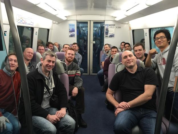 Team in transit