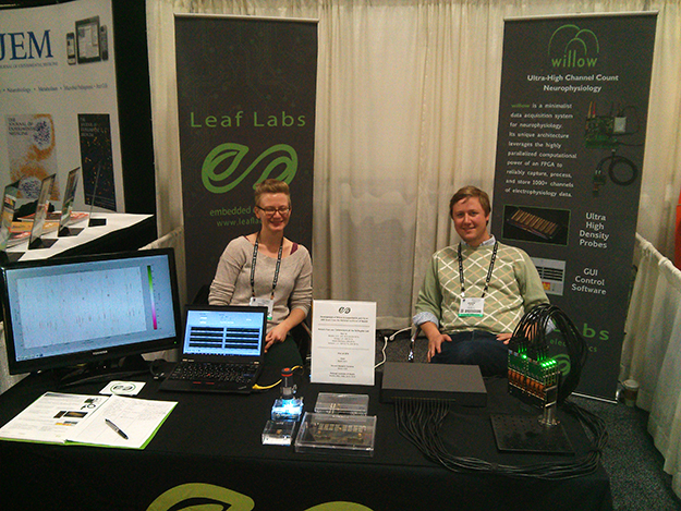 Jess and Andrew at the LeafLabs booth