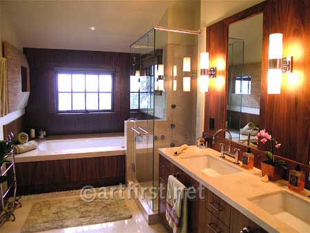 Interior design for luxurious modern bathroom