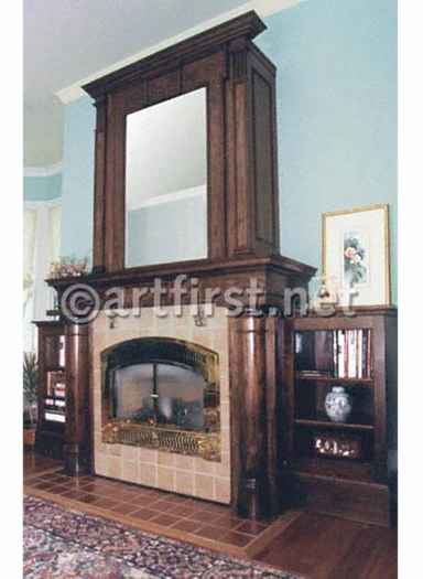 Historic Condo Paint colors and magnificent black walnut fireplace