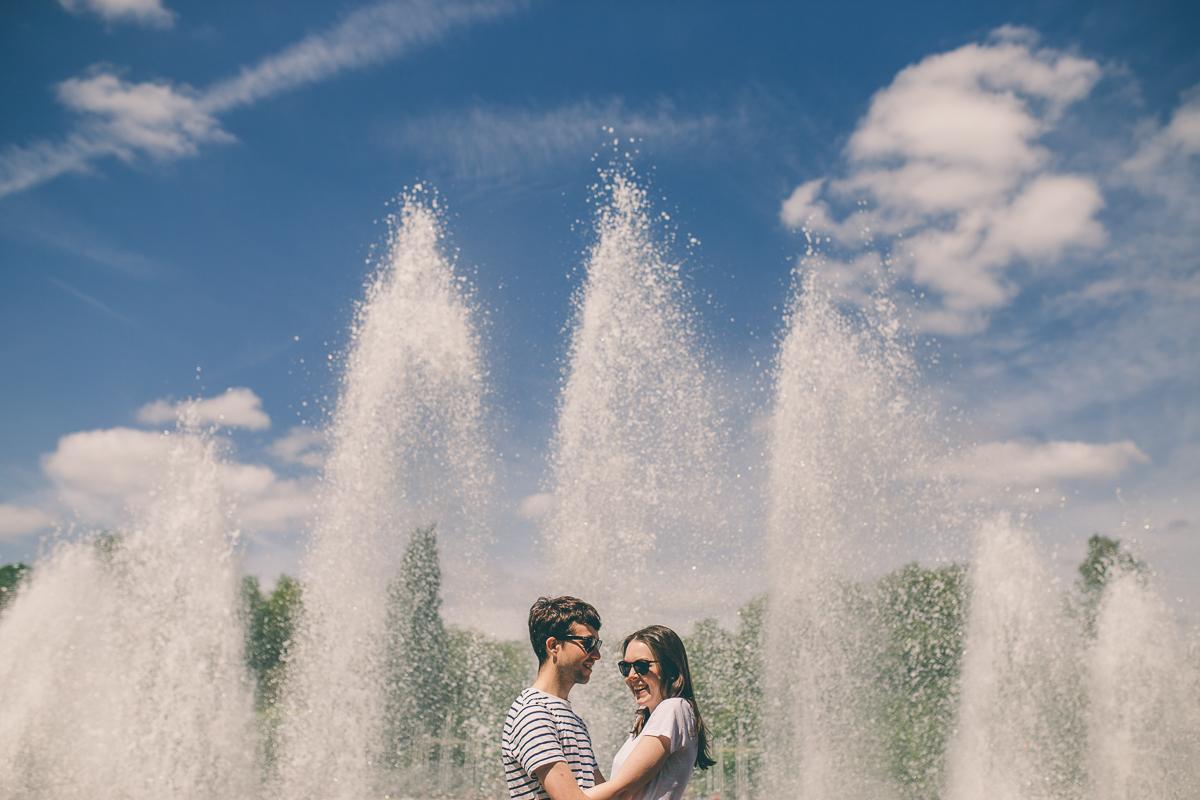 Battersea Park Engagement Shoot by Scarborough based Yorkshire wedding photographer