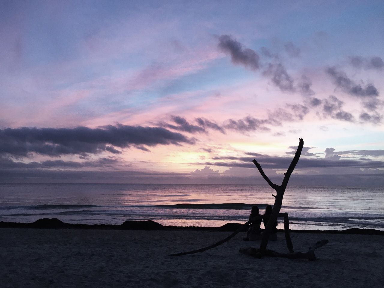 Tulum, Mexico, as my business partner, Lauren Lee, and I meditated together during a gorgeous sunrise. Lauren and I lead international retreats together and it fulfills my wildest dreams and deepest purpose.