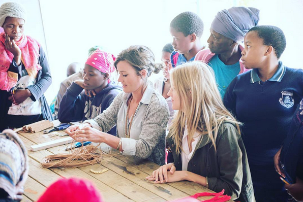Walking in the footsteps of our mothers. Teaching our very first workshop to our very first employees to receive their very first jobs. Words cannot describe. Photo:  @carleyscamera  | inspirational mamabears:  @wboschma   @lindalouwalker