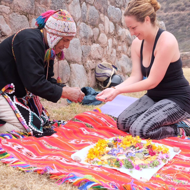I also traveled to Peru in my search for thin places. Here I am being blessed before our Shamanic medicine journey.:)