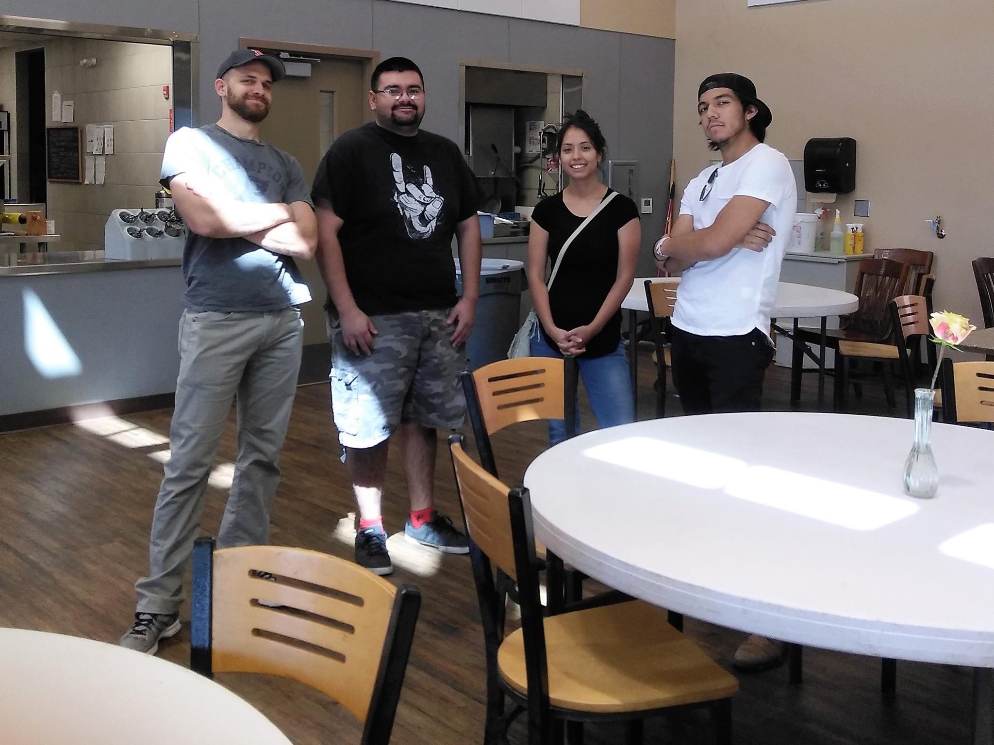 Jeff, Jose y dos amigos en EPCC.