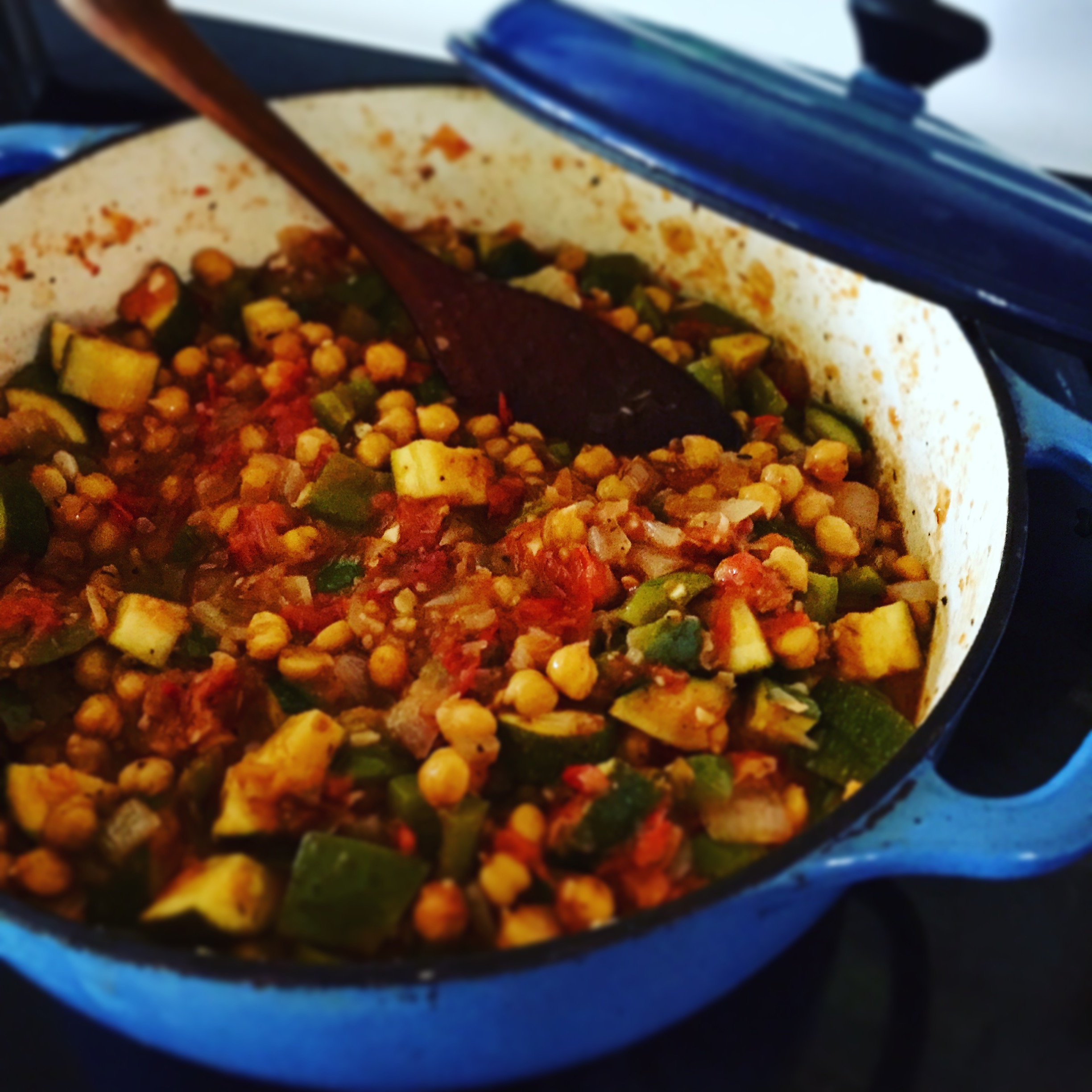 Summer Vegetables and Garbanzo for Barb