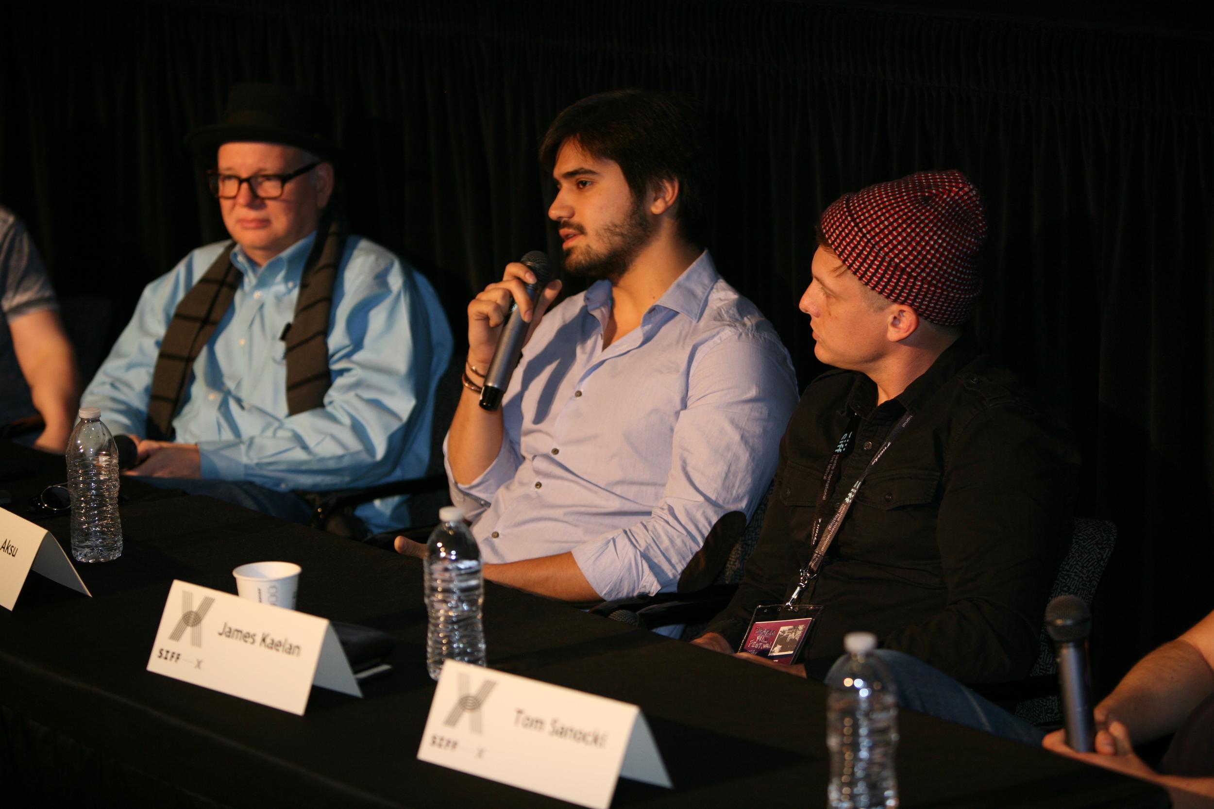 """The Bizness of X"" X-Academy panel. Photo Courtesy of Marty Oppenheimer."