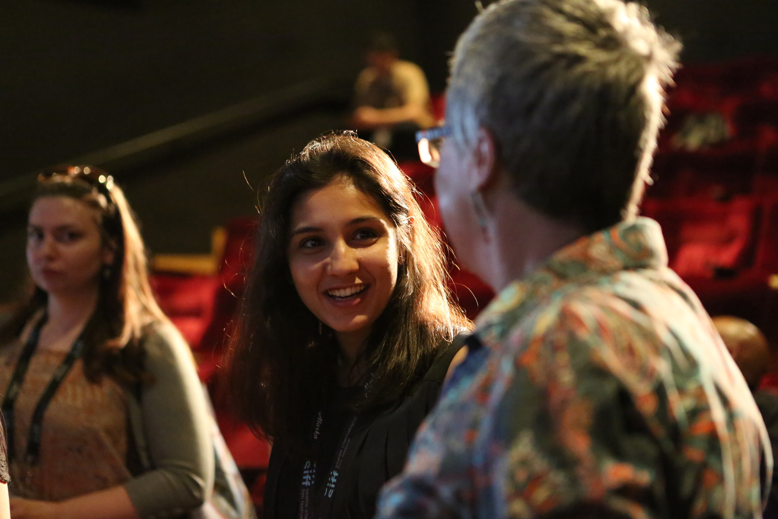 """The conversation continues after """"Feminism 360º"""" X-Academy panel. Photo Courtesy of Marty Oppenheimer."""