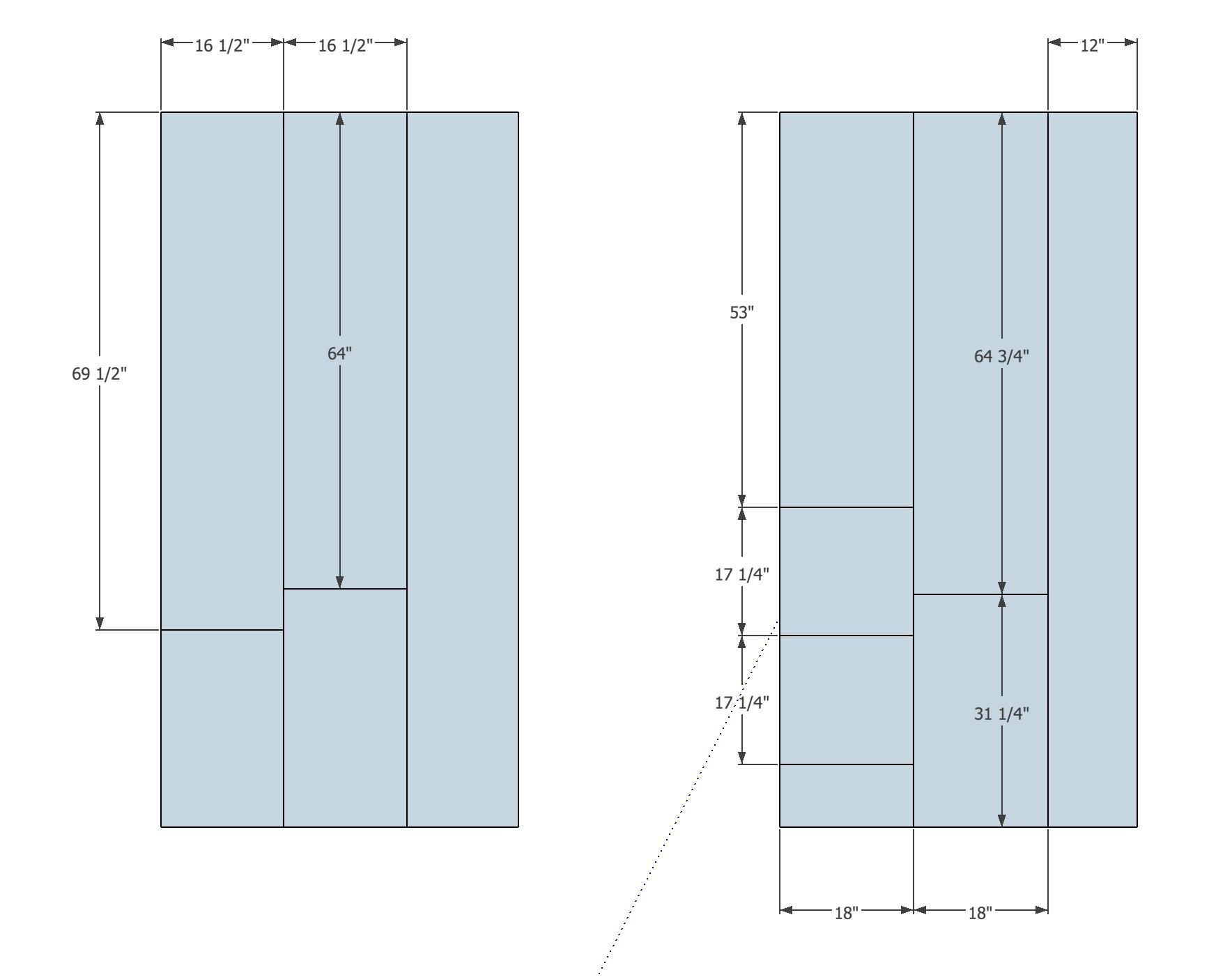 Plywood Cut list ( 4x8 sheets)