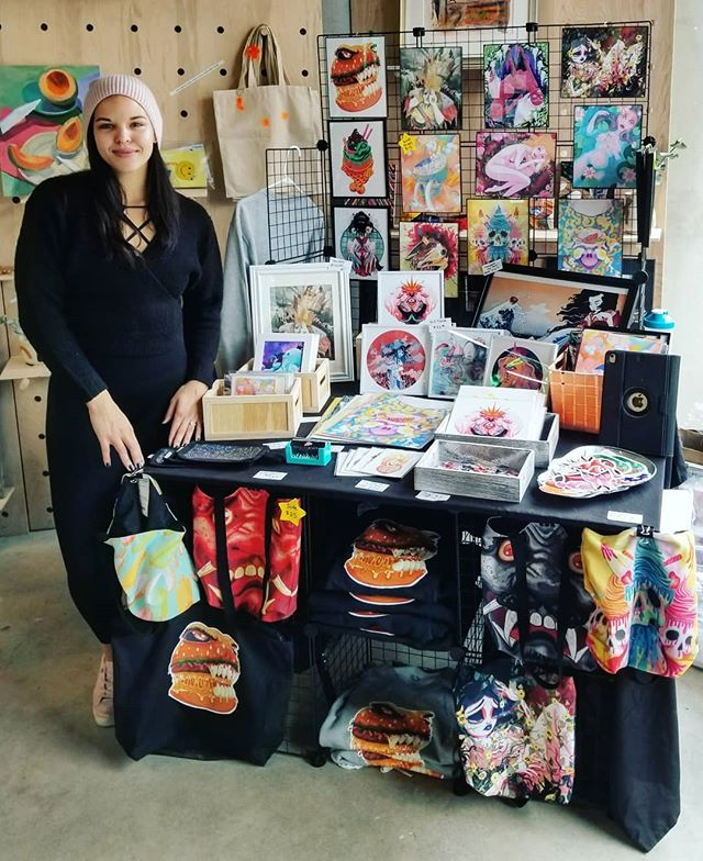 Come visit me at @spaceus.co in Harvard Sqaure! I'll be here from 11-5 selling my colorful creepy goods💕 . . . . . #artistsofinstagram #bostonart #bostonartist #artoftheday #illustrationartist #illustrationart #etsyartists #artprints #artworkoftheday #illustratorsoninstagram