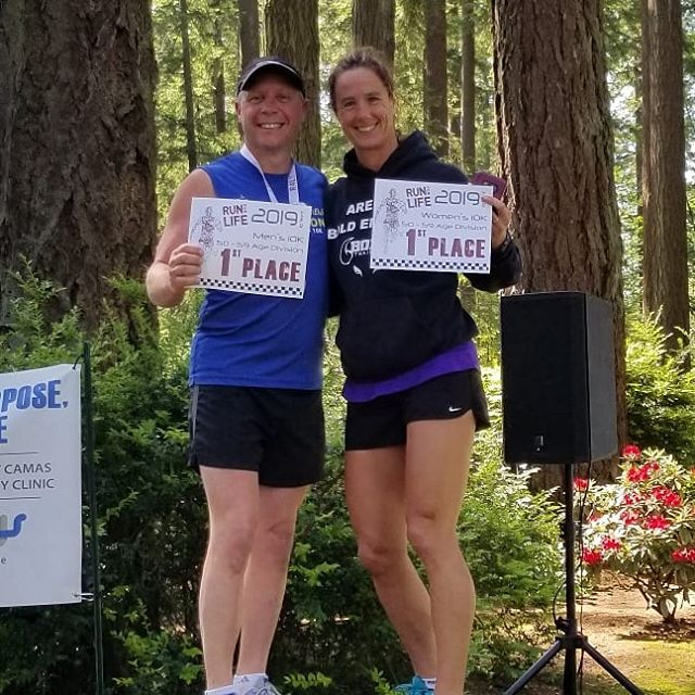 Even race Directors can take first place. This is a great way to start our day with a 10K trail run. #runmoretrails