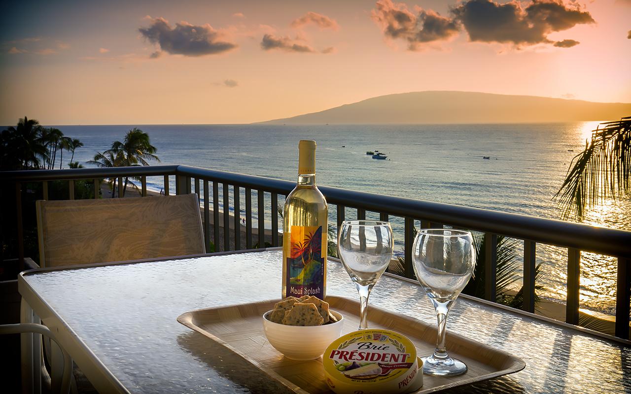 Whaler-Condos-Kaanapali-Beach-Maui-WH701-Lanai-Wine-1.jpg
