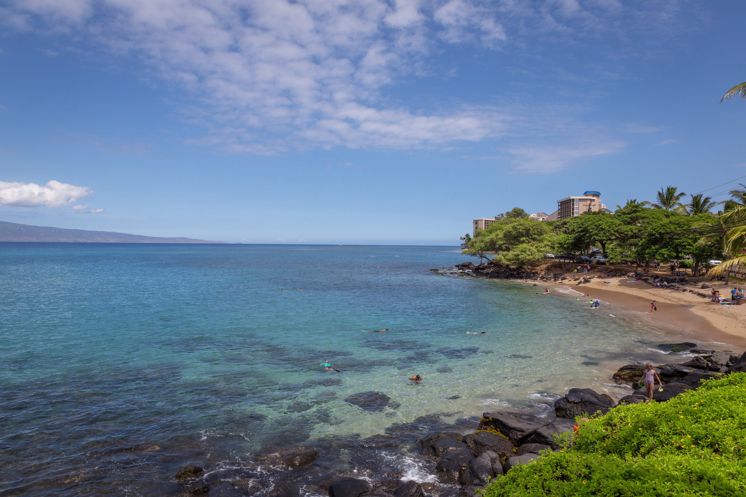A short walk from The Kahana Villas, Pohaku Park is a charming beach cove that offers excellent snorkeling and good swimming.