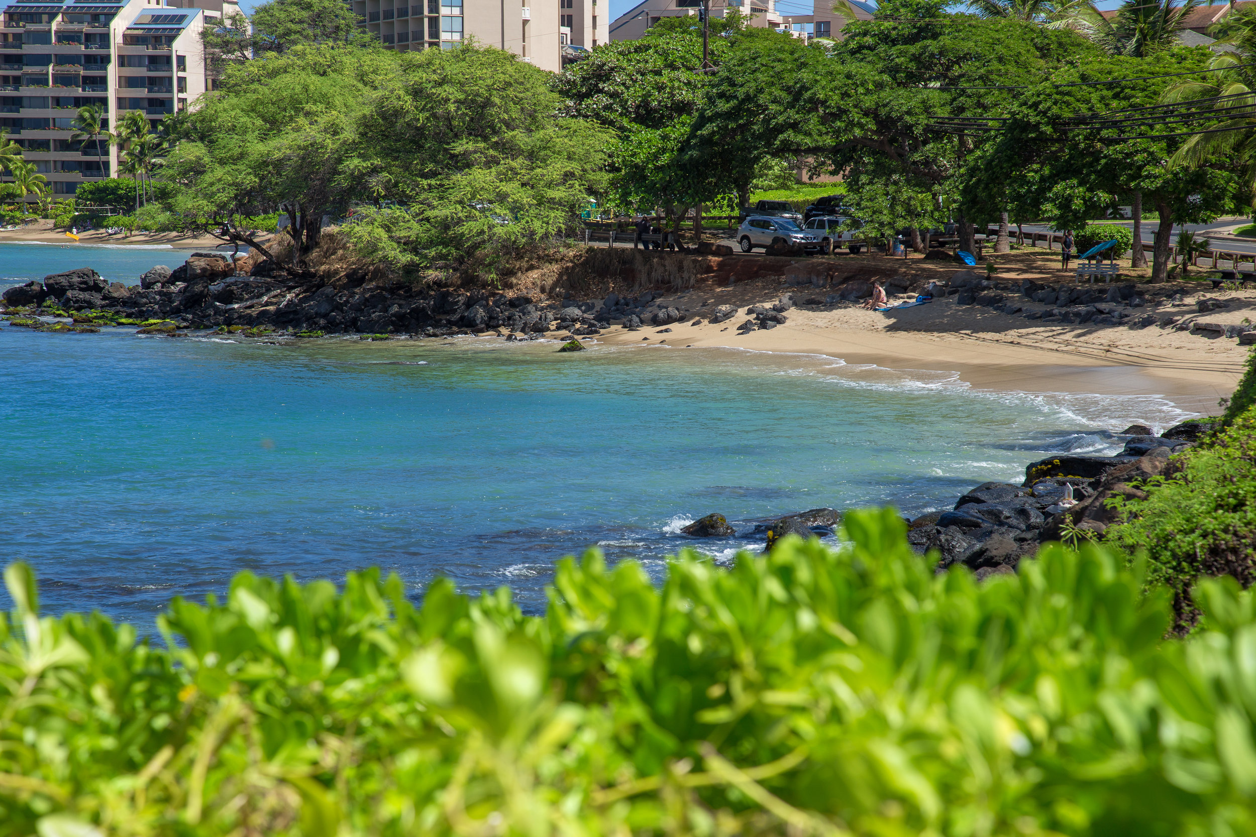 A short walk from The Royal Kahana, Pohaku Park is a charming beach cove that offers excellent snorkeling and good swimming.