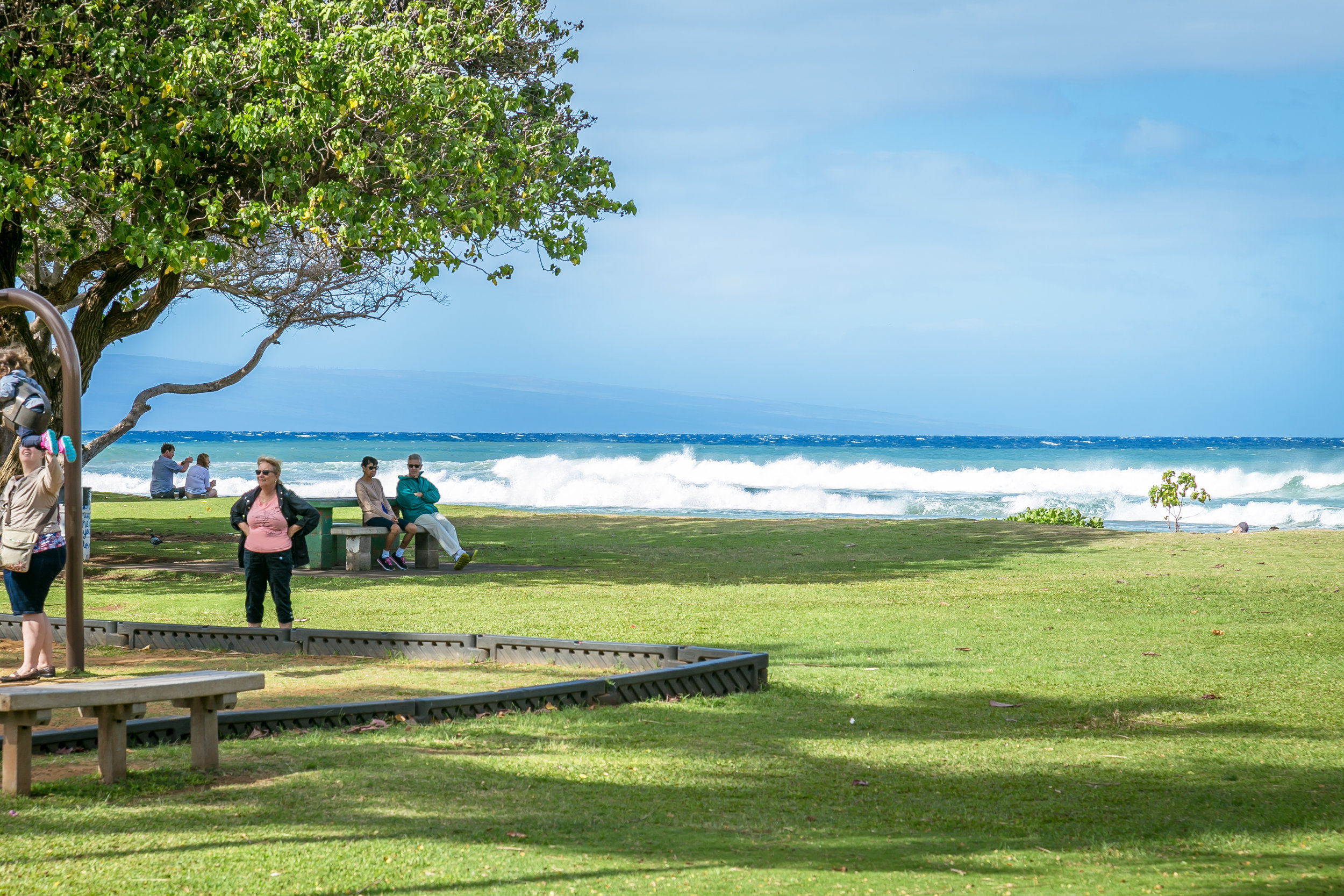 .3 miles away, Honokawaii Beach Park provides a large play area for children!