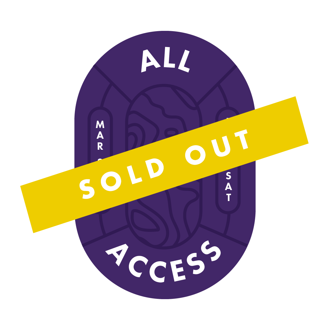 All Access Pass - limited availability!Friday night kick-off // keynote address // networking event // light appys & complimentary beverage // saturday conference // Keynote address // 20+ breakout sessions from 25+ digital marketing professionals // breakfast, lunch, snacks & an endless supply of coffeeMaster classes are not included in all access passes.