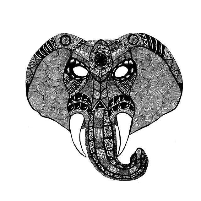 Elephant 🐘 Commission piece . . . . . . . #ink #inkart #okamiink #elephants #illustration #instadraw #animals #animal #artofdrawing #zentangle #patterns #draw #sketch #blackandwhite #artist #art #designer #artoftheday #followforart #illustrator #lines #waves