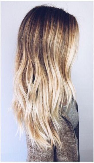 Blonde balayage hightlights. Source:   Pinterest