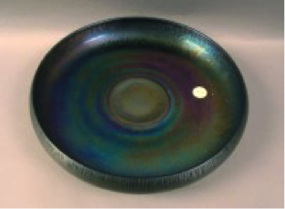 "Diamond Egyptian Lustre 'ice cream shaped' bowl, 10 ½"" diameter $250"
