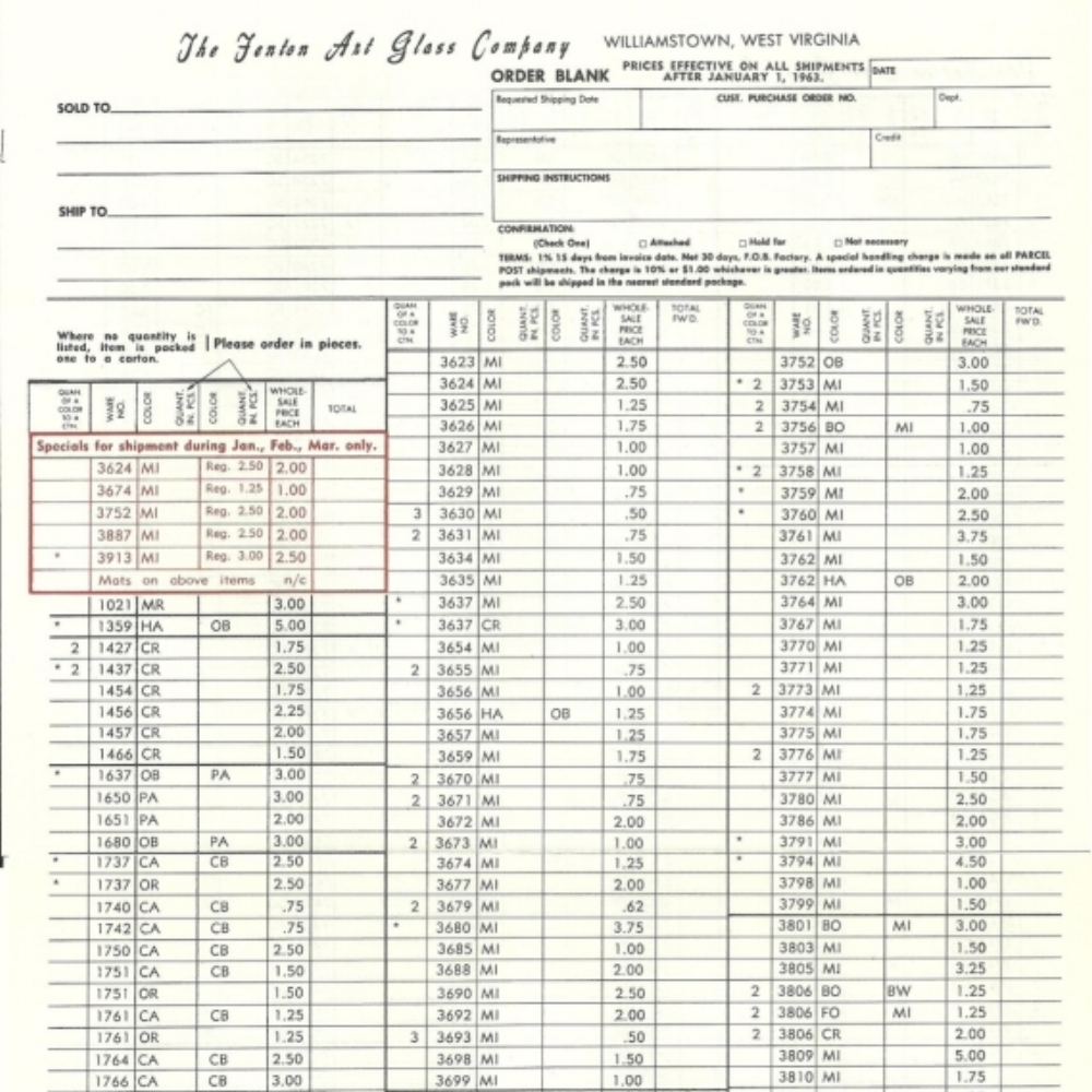 1963 January Price Guide WHITE
