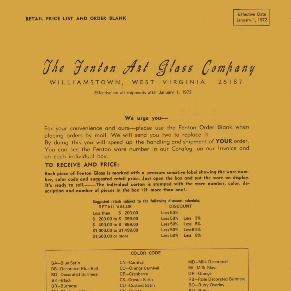 1972 January Price Guide