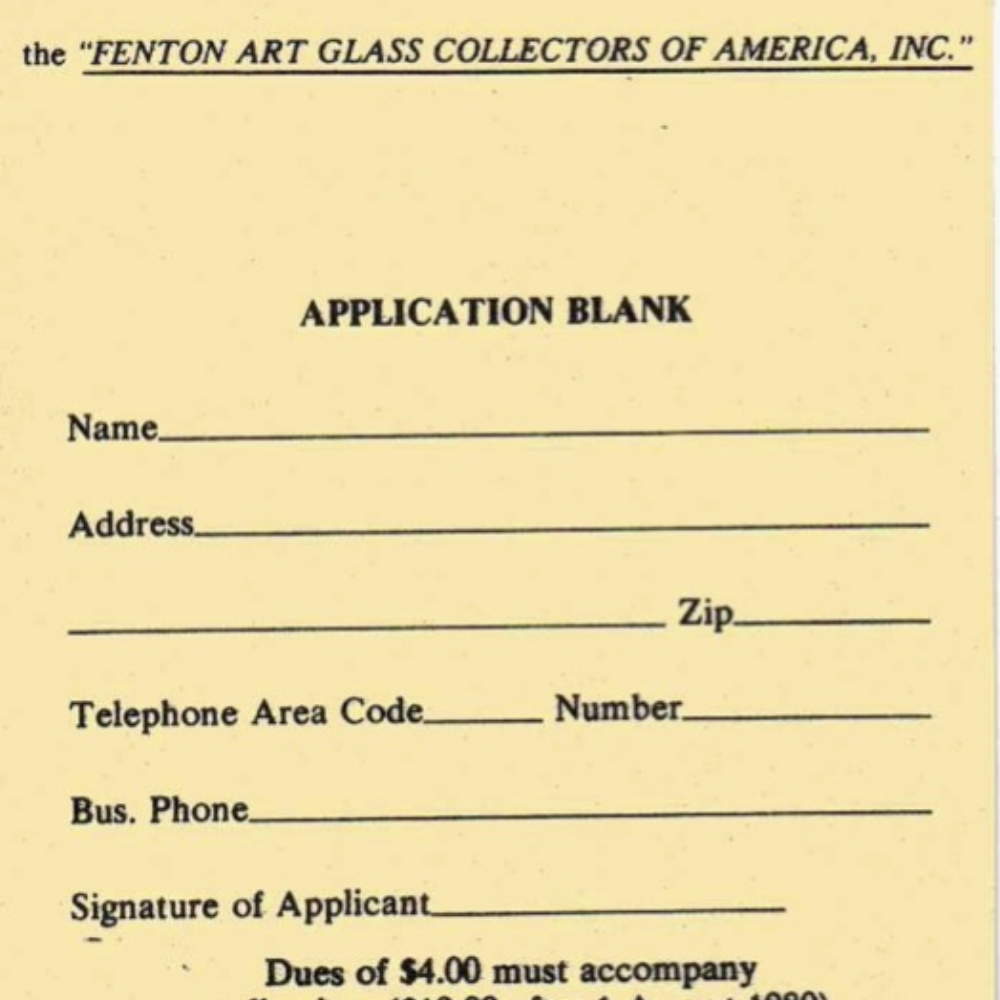 1980 FAGCA Membership App