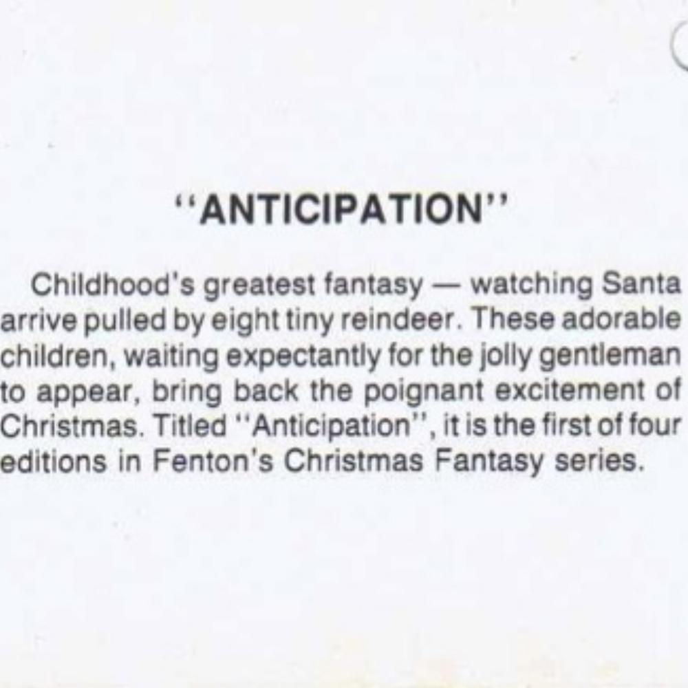 1983 Anticipation Hang Tag