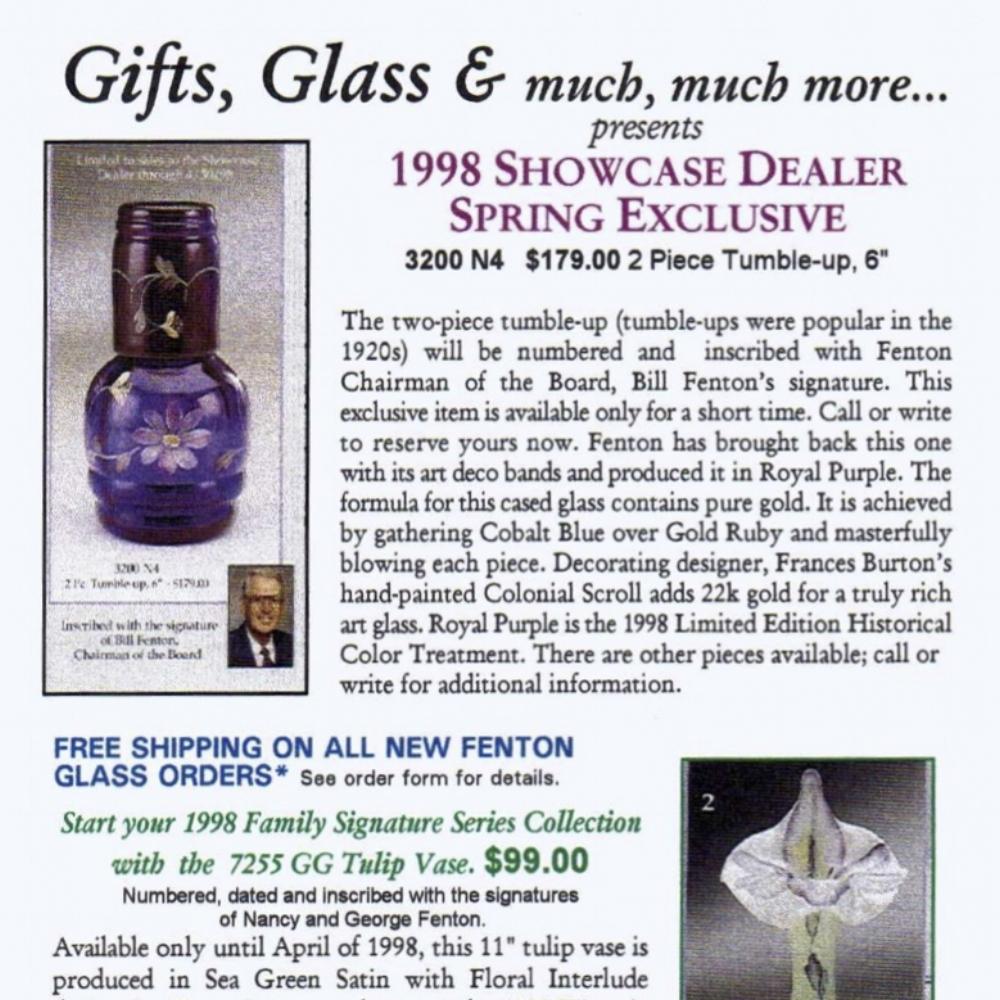 1998 Showcase Dealer Exclusive