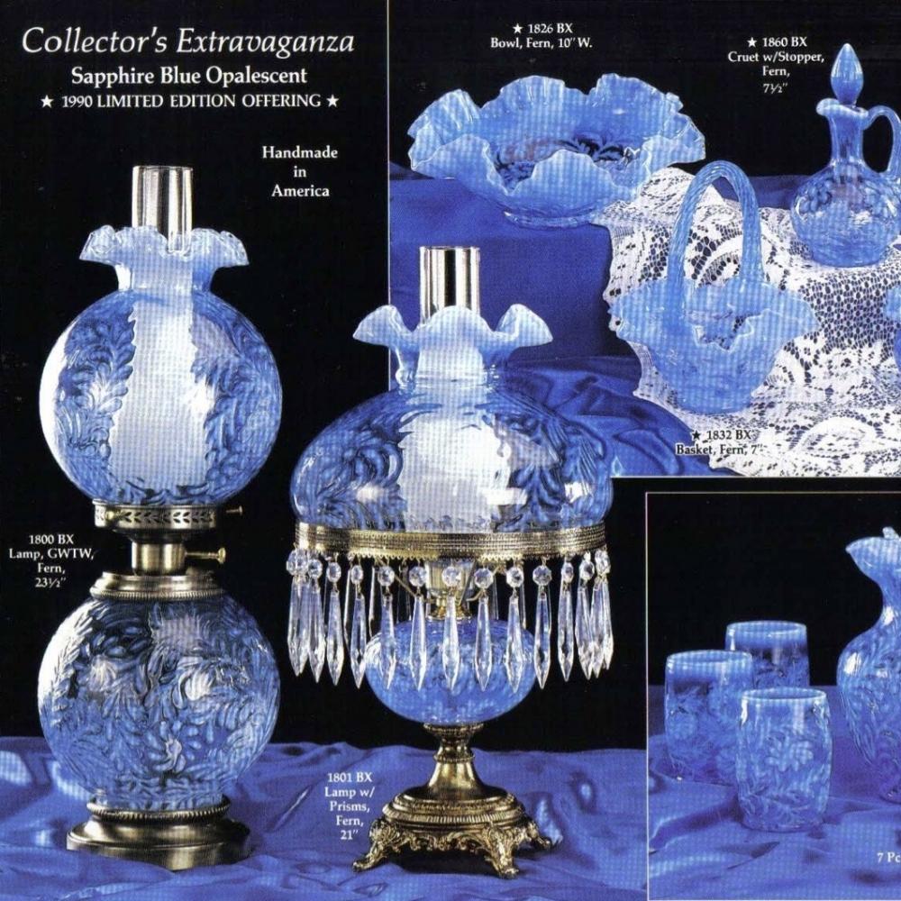 1990 Sapphire Blue Opalescent