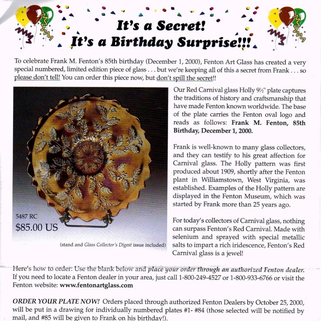 2000 Birthday Surprise Flyer