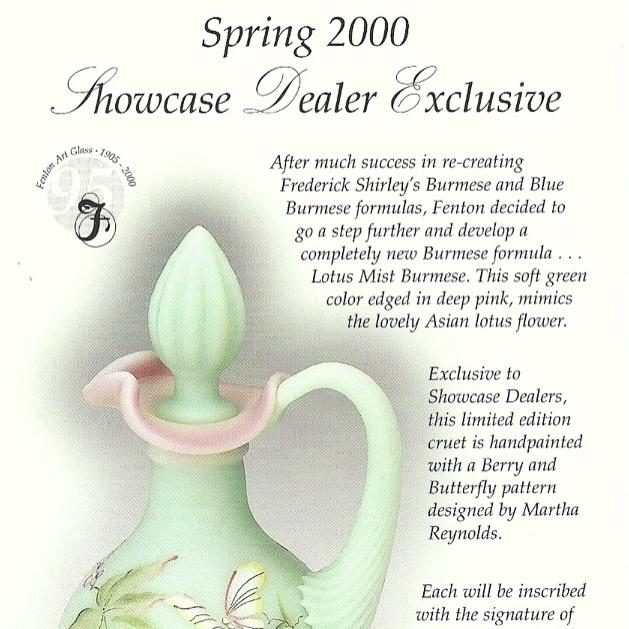 2000 Showcase Dealer Spring