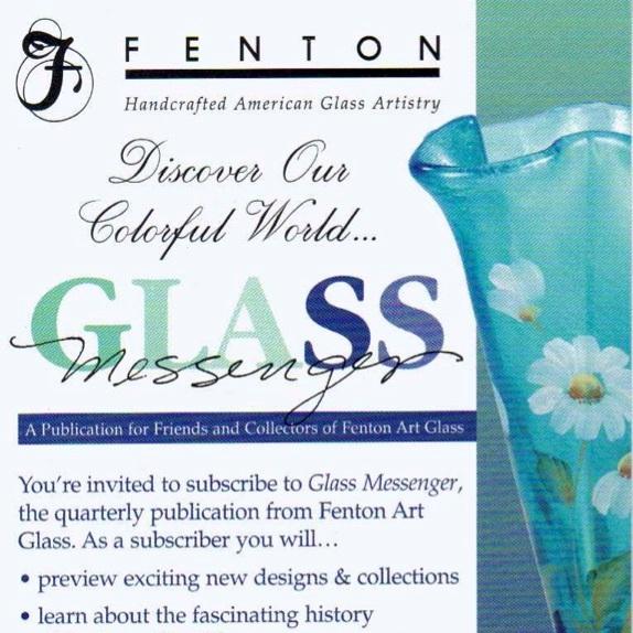 2004 Glass Messgr Rack Card